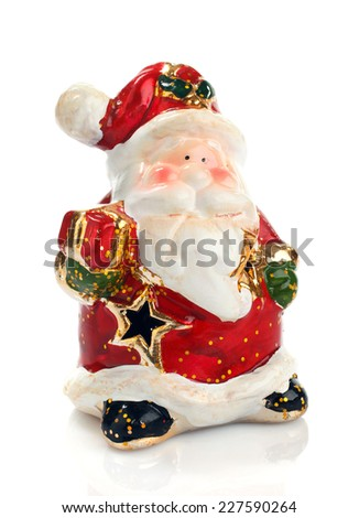 Christmas Ornaments Christmas Tree Stock #0: stock photo christmas decorations santa claus isolated on white background