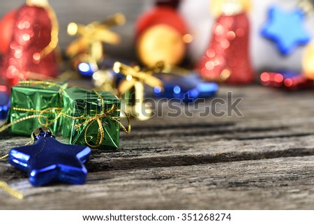 Christmas decorations variety background