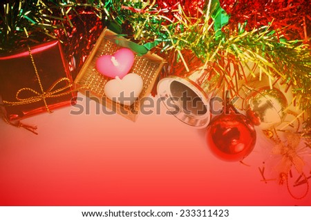Christmas Decorative Border or Frame for word and background