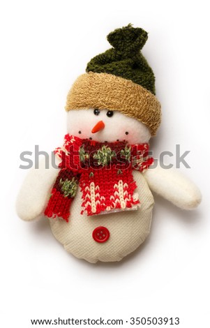 Christmas decorative snowman as illustration for design