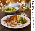 Christmas dinner - stock photo