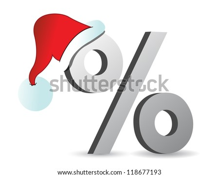 christmas discounts concept illustration design background in white