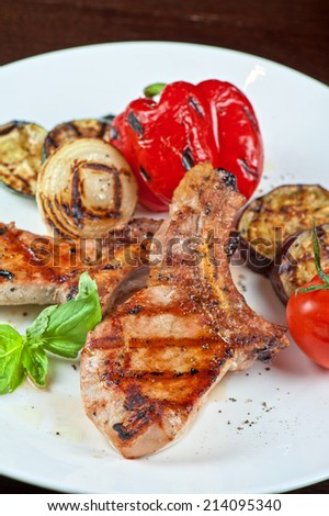 Christmas dishes for Holiday dinner - stock photo