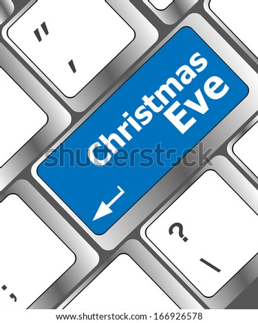 christmas eve message button, keyboard enter key