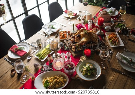 christmas ham dinner table - photo #9