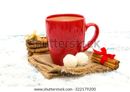 Christmas festive background - stock photo