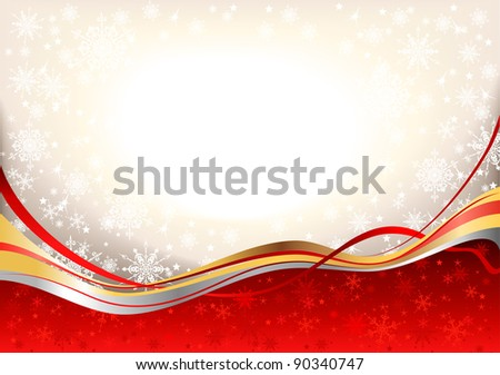 Christmas festive  background with space for text.  Raster version - stock photo