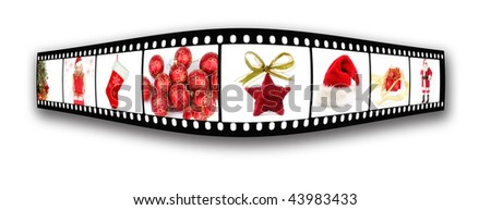 christmas film strip - stock photo