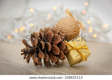 Christmas fir-cone - decoration for the Christmas tree.