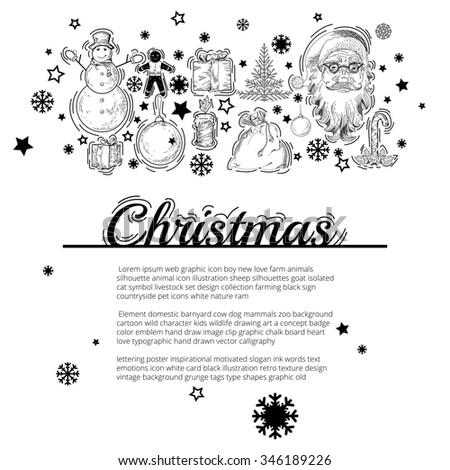 Christmas Flyer Banners Posters Template Christmas Stock ...