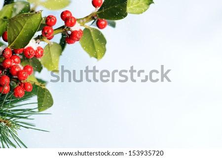 Christmas frame - stock photo
