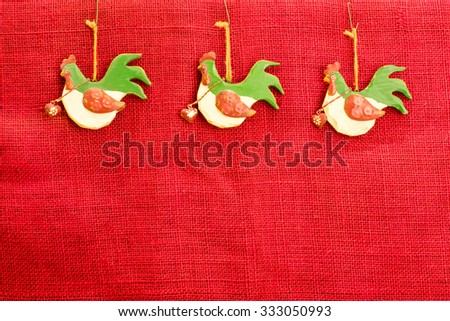 Christmas frame background 3 French hens