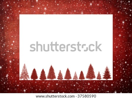 christmas frame with space for text or image - stock photo