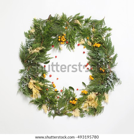 Fir tree branch stock images royalty free images for Red and yellow christmas tree