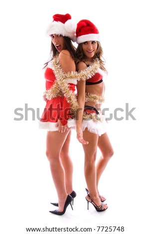 Christmas fun. - stock photo