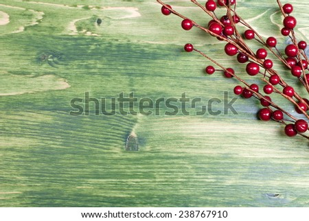 Christmas fur-tree toy on a green chalkboard - stock photo