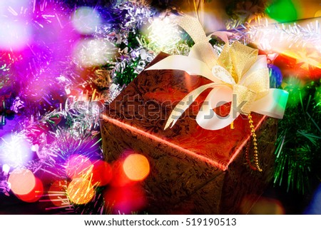Christmas gift box present for the new year