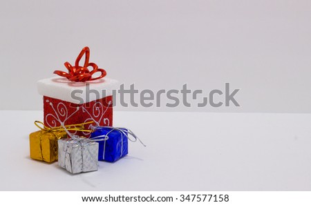 Christmas gift in the boxes different size and style - stock photo