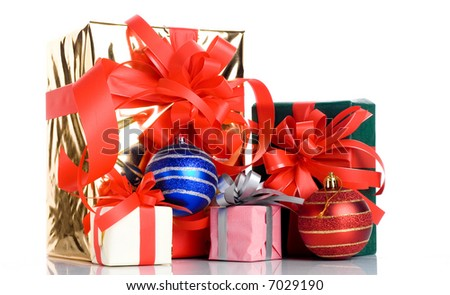 Christmas gift isolated on white background