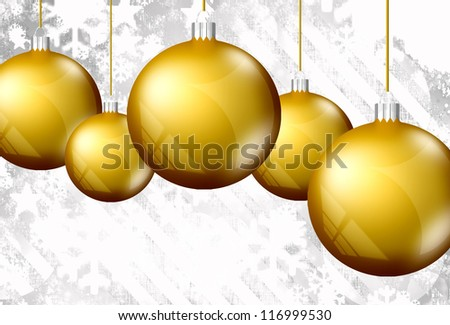 Christmas giftcard background with snowflakes. - stock photo
