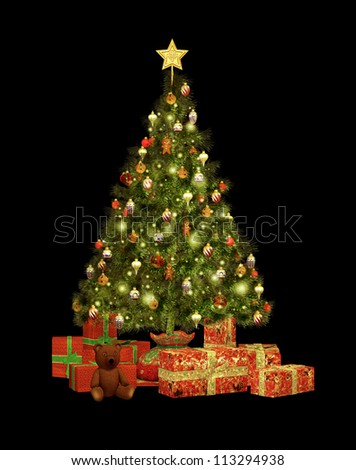 Christmas Gifts CA - stock photo