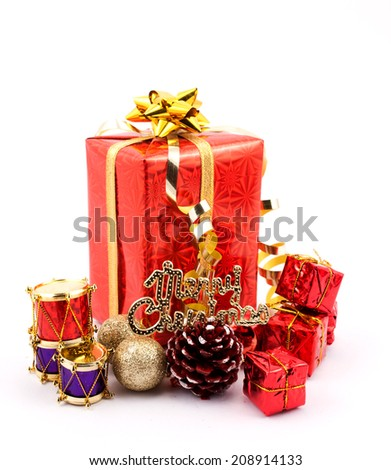 christmas gifts with baubles