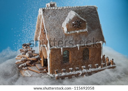 Christmas gingerbread house - stock photo