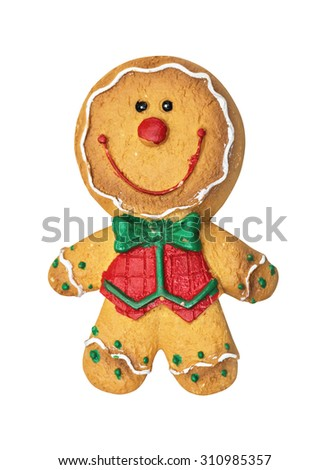 Christmas gingerbread  isolated on the white