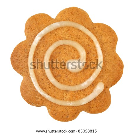 christmas gingerbread on white background