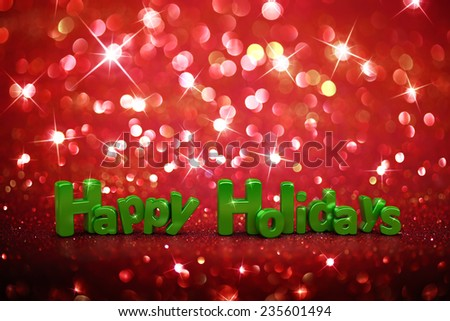 Christmas glitter background - Happy Holidays - stock photo