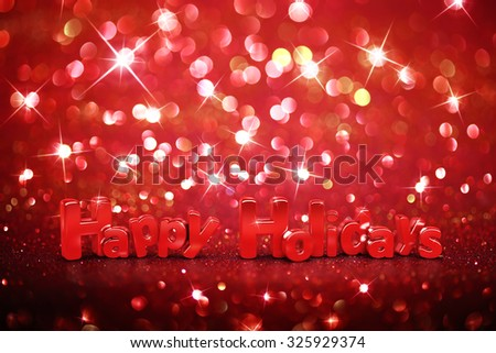 Christmas glitter background - Happy Holidays - stock photo