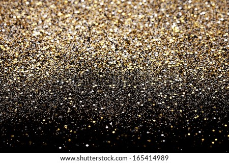 Christmas Gold Silver Glitter Background Holiday Stock