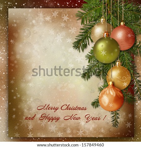 Christmas greeting background - stock photo