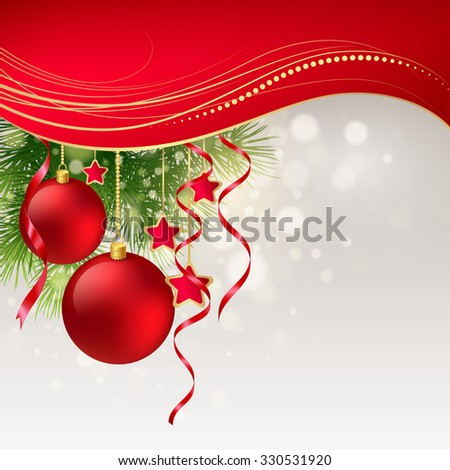 Christmas greeting card. illustration - stock photo