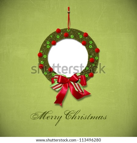Christmas greeting card quickpage - stock photo