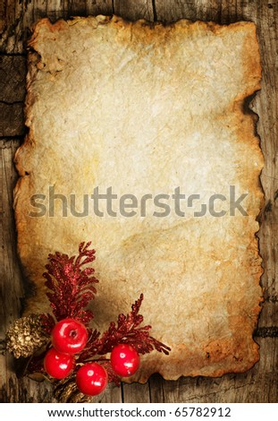 Christmas Greeting Card.Vintage Styled - stock photo