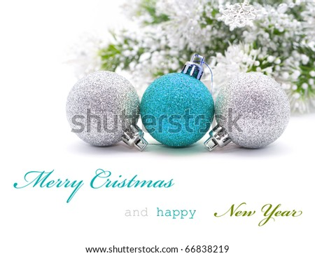 Christmas greeting card with sample text - stock photo