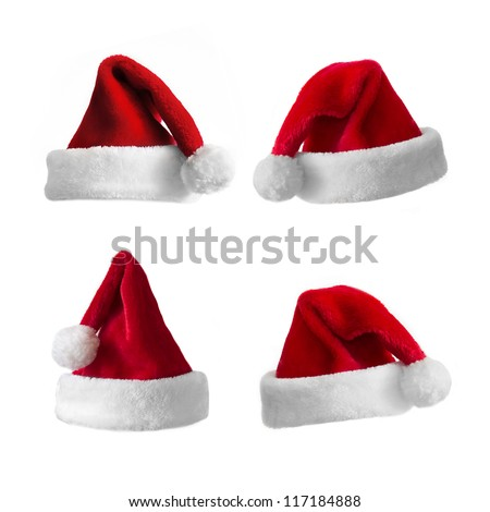 Christmas hat collection - stock photo