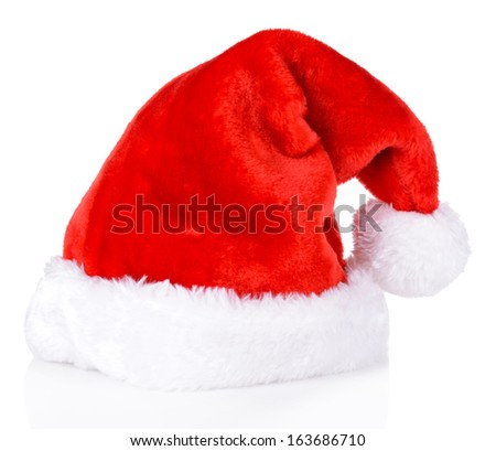 Christmas hat isolated on white - stock photo