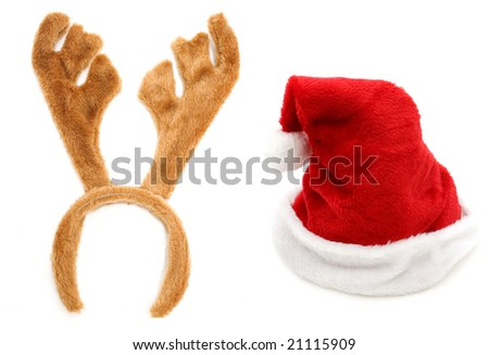 christmas hats - stock photo