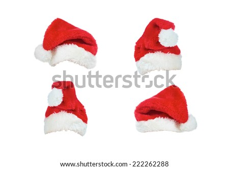 Christmas hats isolated on a white background. - stock photo