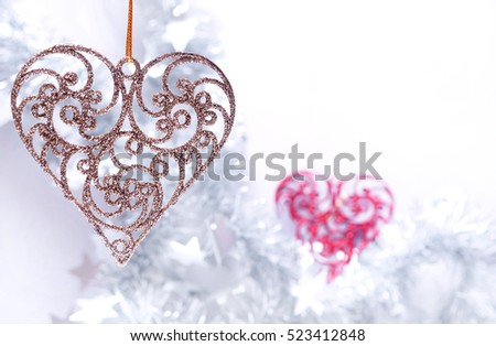 Christmas heart. Christmas toy