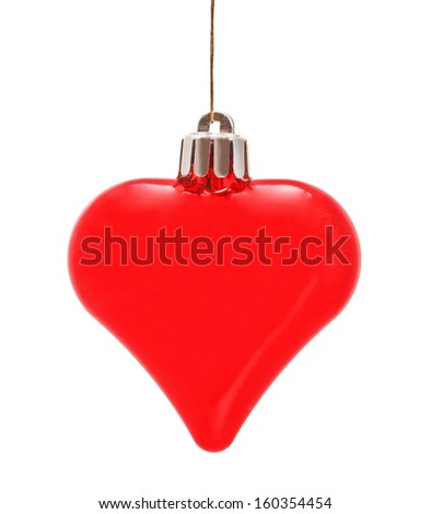 Christmas heart, solation on a white background - stock photo