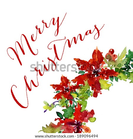 Christmas holiday card design - stock photo