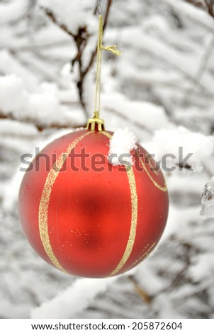 Christmas Holiday Decoration Ornament - stock photo