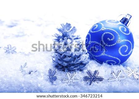 Christmas. Holiday Decorations. Decor. - stock photo