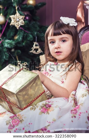 Christmas holiday gifts and surprises time. Childhood miracles. Merry Christmas and happy New Year! A series of photos