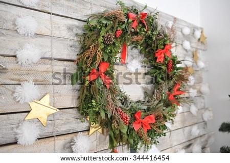 Christmas home decor - stock photo