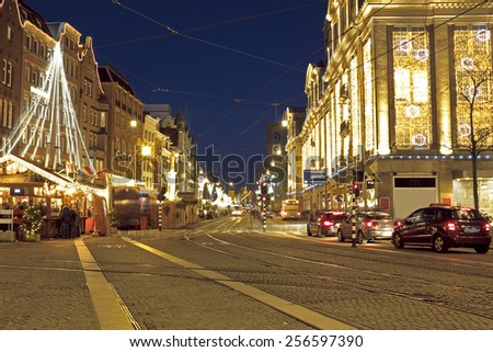 Christmas in Amstedam the Netherlands - stock photo