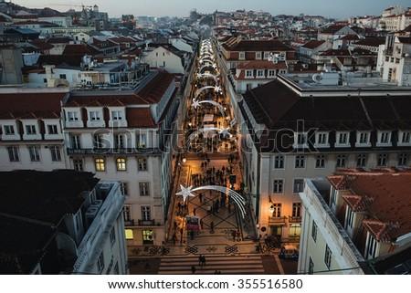 Christmas in Lisbon - stock photo